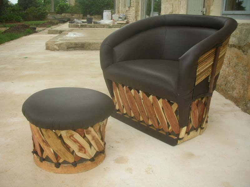 Les fauteuils equipales en cuir