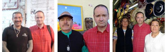 Philippe Delage et quelques artisans mexicains